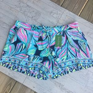 LILLY PULITZER Katia Short High Tide Navy NWT XL